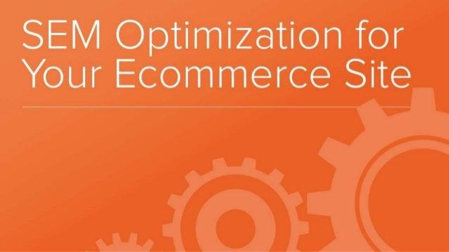 SEM Optimization for Ecommerce Sites