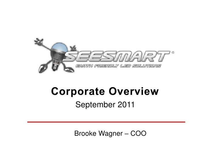 Seesmart corporate presentation sept 2011