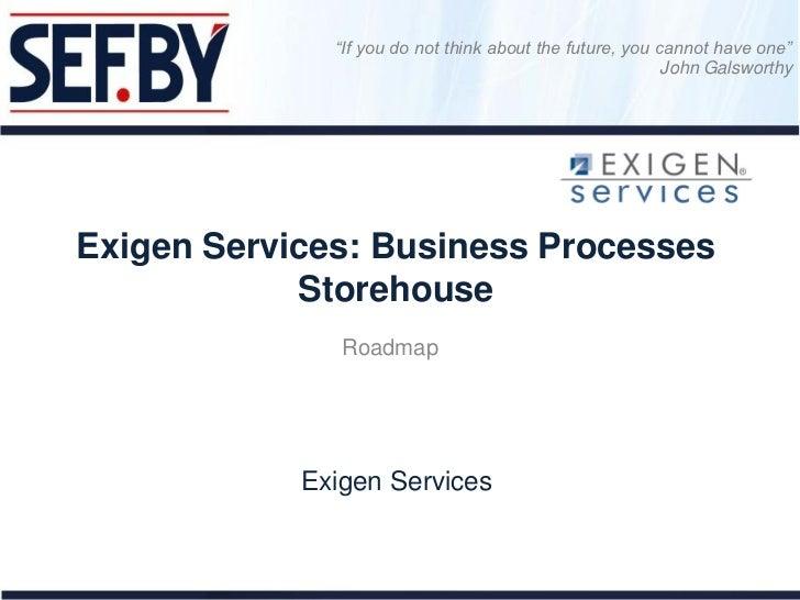 Дамир Тенишев Exigen Services Business Processes Storehouse