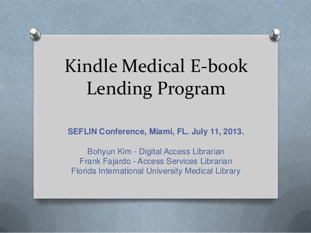 Kindle Medical E-Book Lending Program