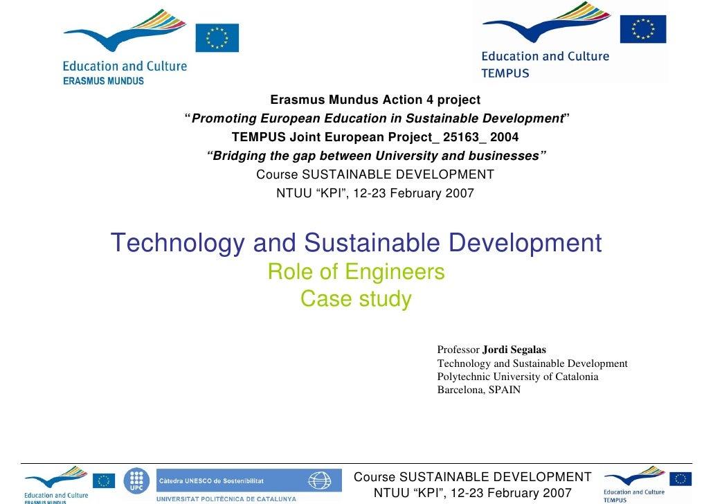 "Erasmus Mundus Action 4 project      ""Promoting European Education in Sustainable Development""             TEMPUS Joint Eu..."