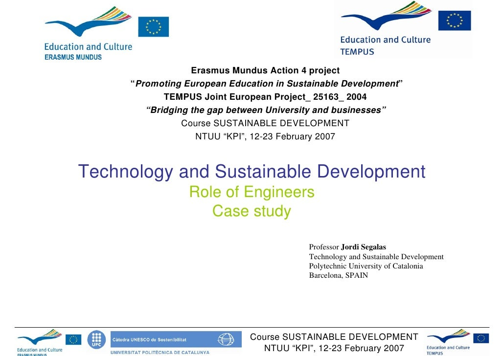 15.02, Segalas — Lecture on technology and sustainable development