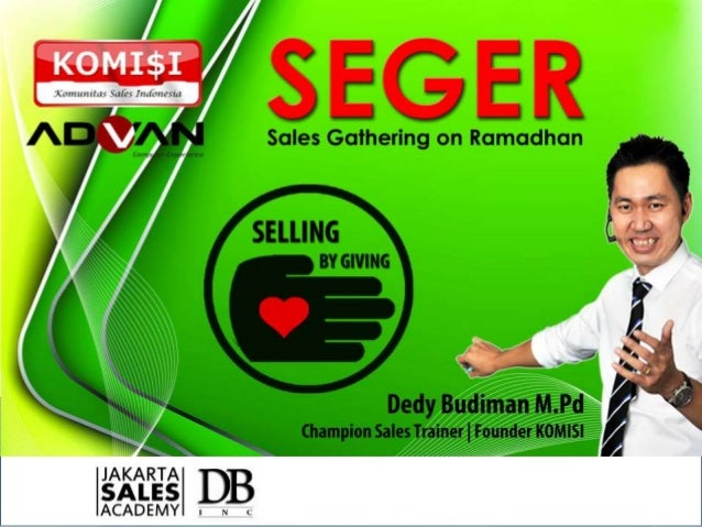 Seger 2014   selling by giving