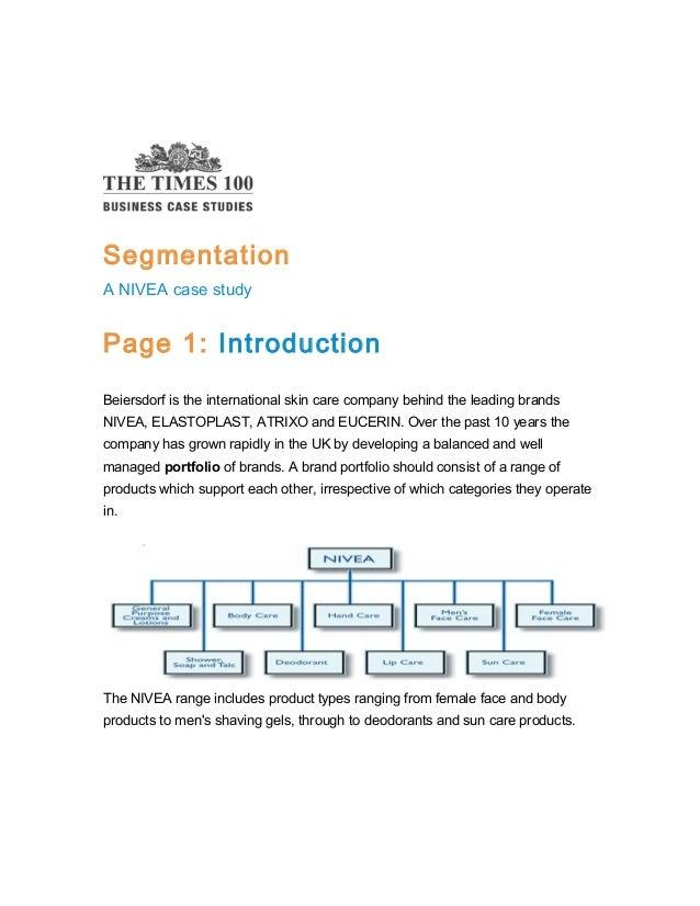 Segmentation case study-nevia