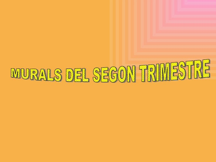 Segon Trimestre