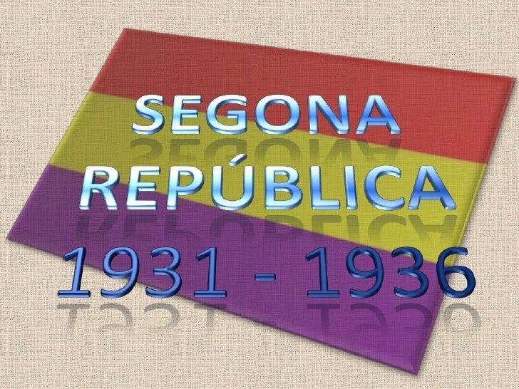La Segona Republica Espanyola