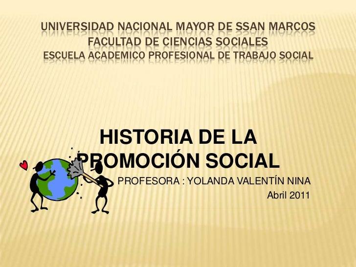 UNIVERSIDAD NACIONAL MAYOR DE SSAN MARCOS       FACULTAD DE CIENCIAS SOCIALESESCUELA ACADEMICO PROFESIONAL DE TRABAJO SOCI...