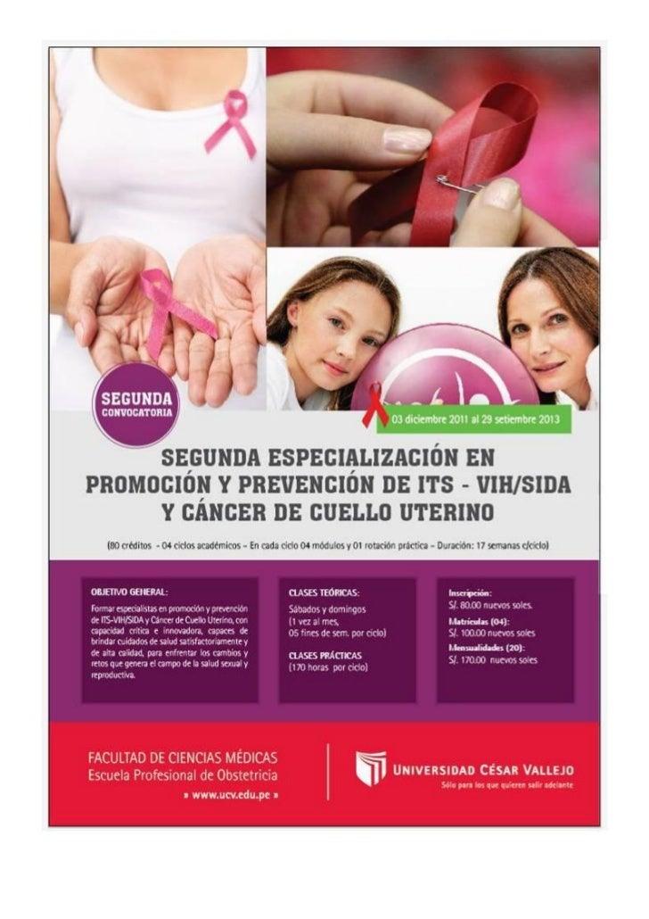 Segunda especialización - Escuela de Obstetricia
