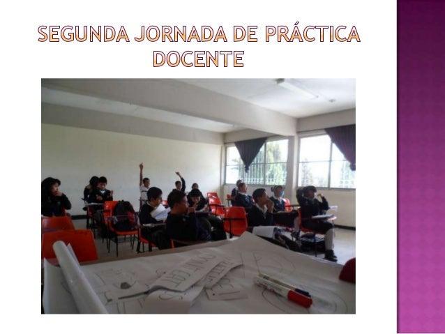 Segunda jornada de práctica docente diapo