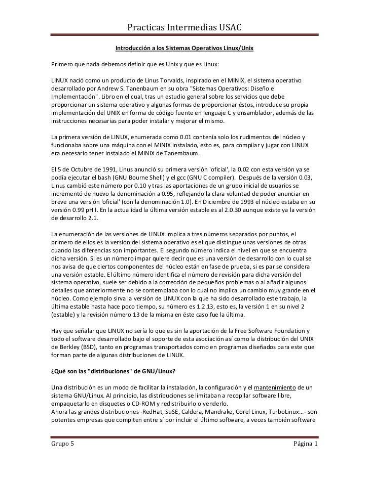 Practicas Intermedias USAC                        Introducción a los Sistemas Operativos Linux/UnixPrimero que nada debemo...