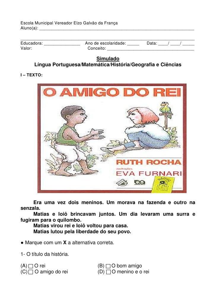 Escola Municipal Vereador Elzo Galvão da FrançaAluno(a): _________________________________________________________________...