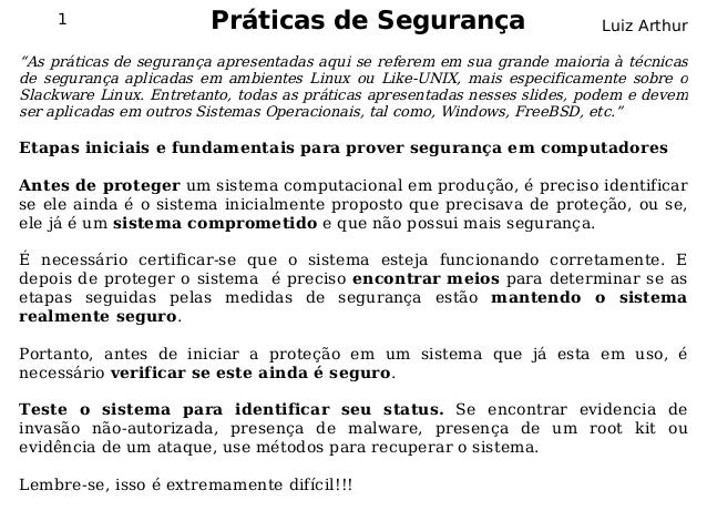 Seguranca da informação seguranca em_redes_parte_03praticas