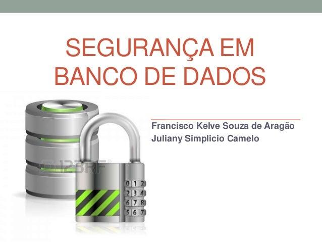 Segurança em banco de dados