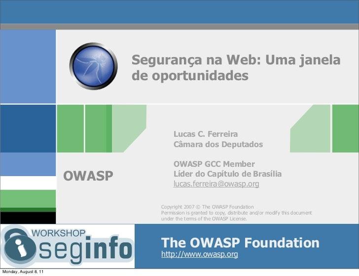 """""""Segurança na web: uma janela de oportunidades"""" por Lucas Ferreira"""