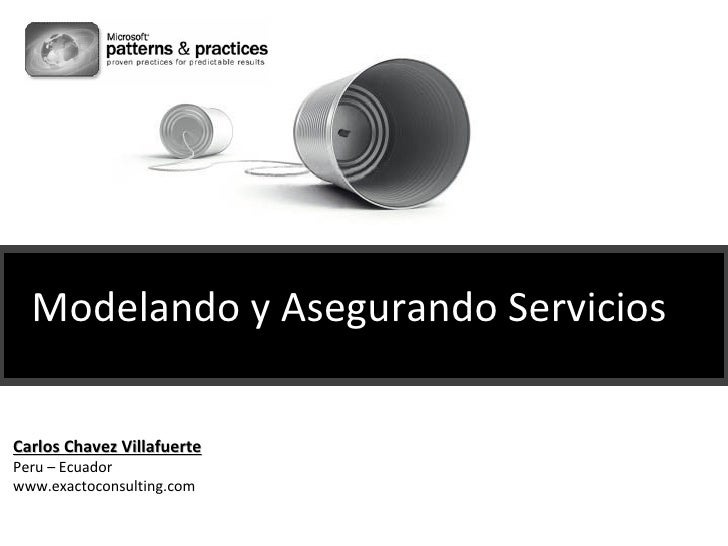 Modelando y Asegurando Servicios