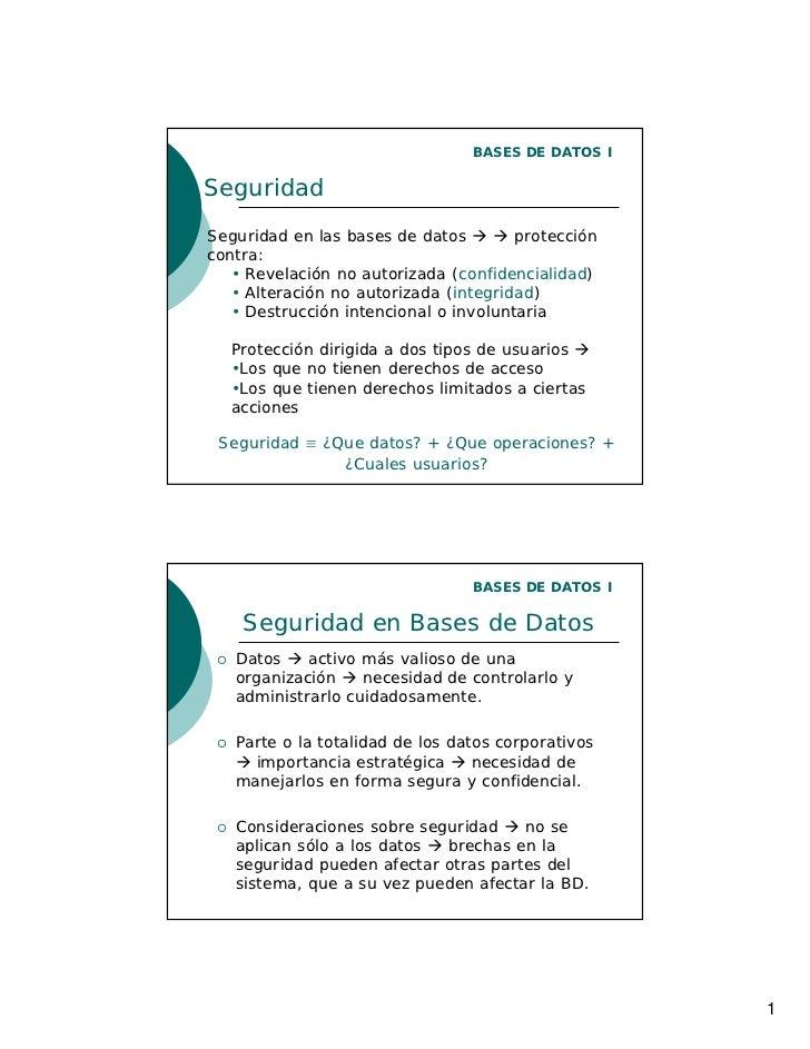 SEGURIDAD DE BASE DE DATOS