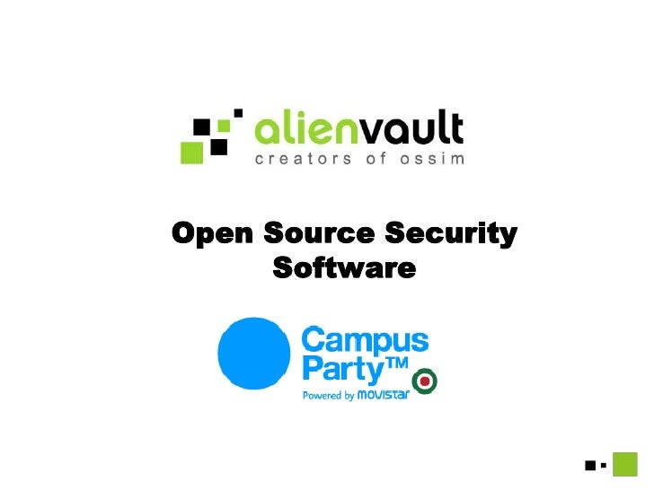 Open Source Security Software<br />