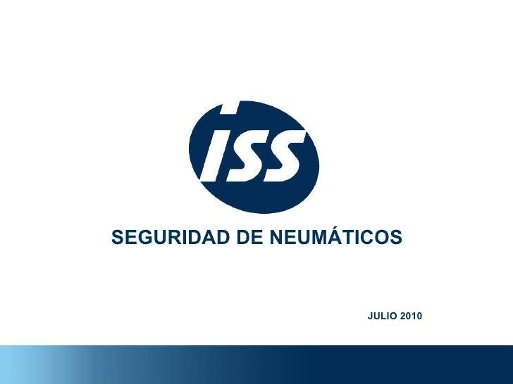 SEGURIDAD DE NEUMÁTICOS JULIO 2010