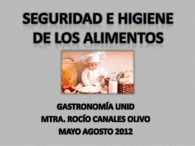Seguridad e higiene de los alimentos for Manual de buenas practicas de higiene y manipulacion de alimentos