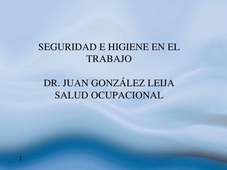 Seguridad E Higiene Juan Leija