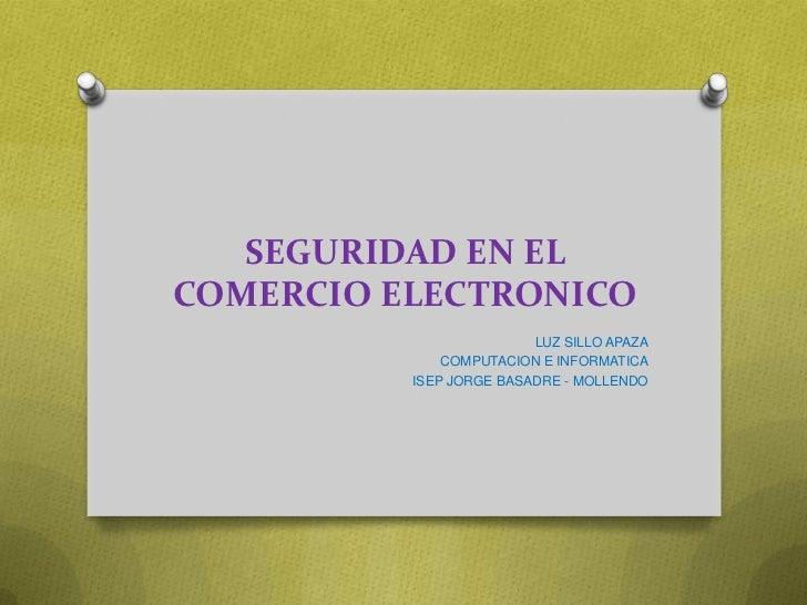 Seguridad en el comercio electronico