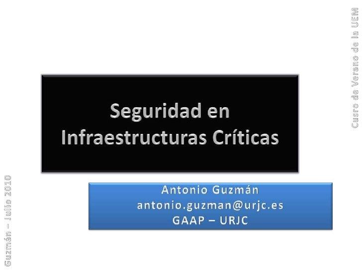 Seguridad en infraestructuras críticas