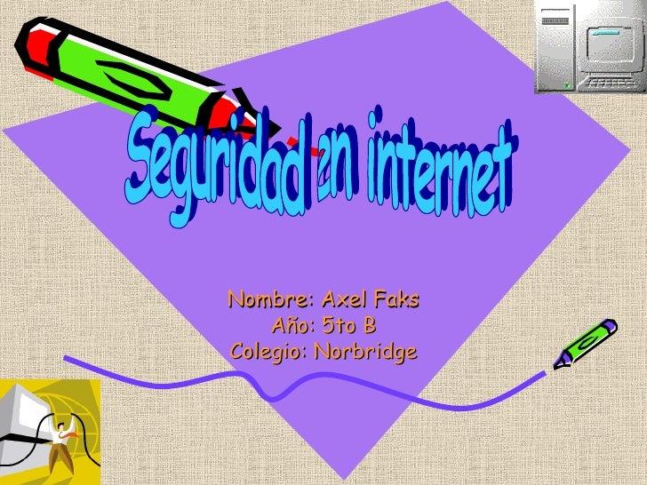 Seguridad En Internet Axel
