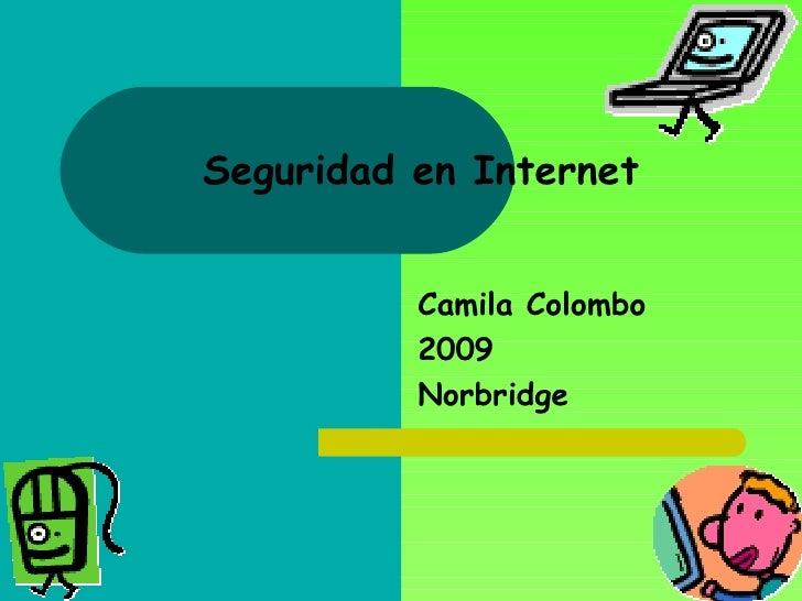 Seguridad en Internet Camila Colombo 2009 Norbridge