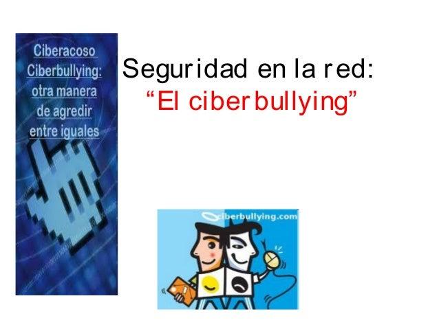 """Seguridad en la red: """"El ciberbullying"""""""