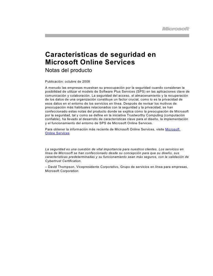 Seguridad En Ms Online Services