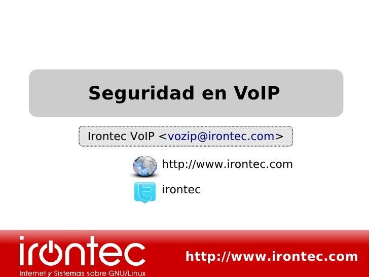 Seguridad en VoIP