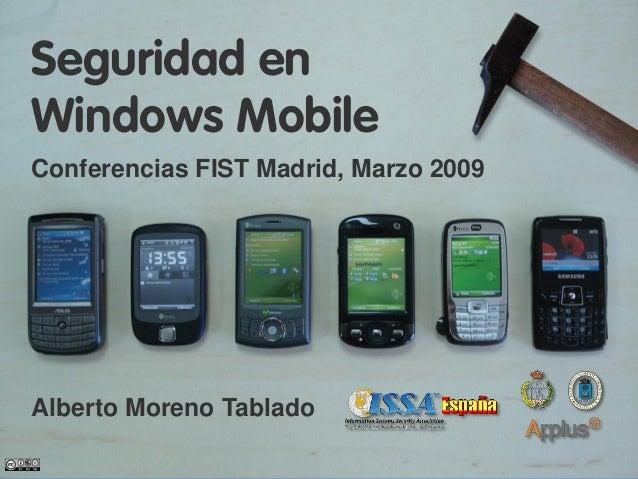 Seguridad en Windows Mobile