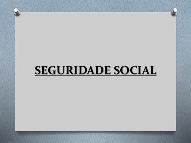 Seguridade social no Brasil