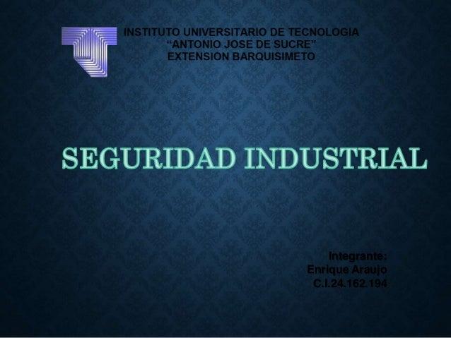 Integrante:  Enrique Araujo  C.I.24.162.194