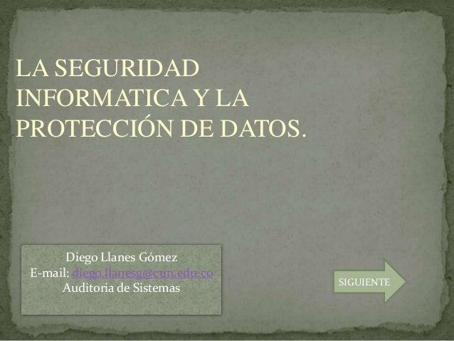 Seguridad informatica auditoria