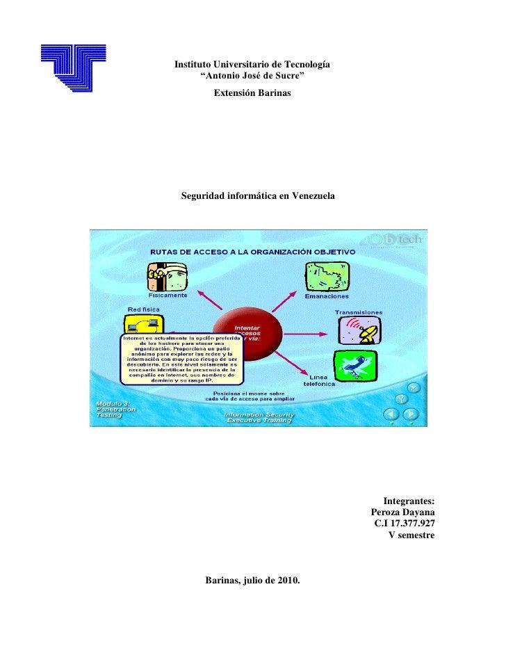 Seguridad informatica  en venezuela