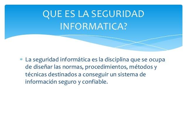 Tips Seguridad Informatica la Seguridad Informática es la