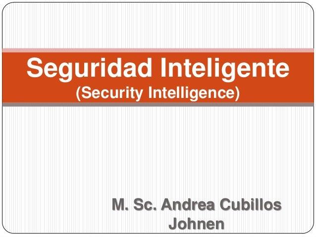 Seguridad inteligente (Security Intelligence)