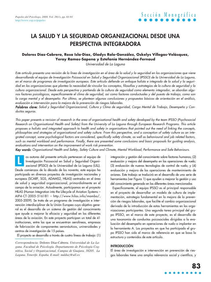 Papeles del Psicólogo, 2008. Vol. 29(1), pp. 83-91                                              Sección Monográficahttp://...