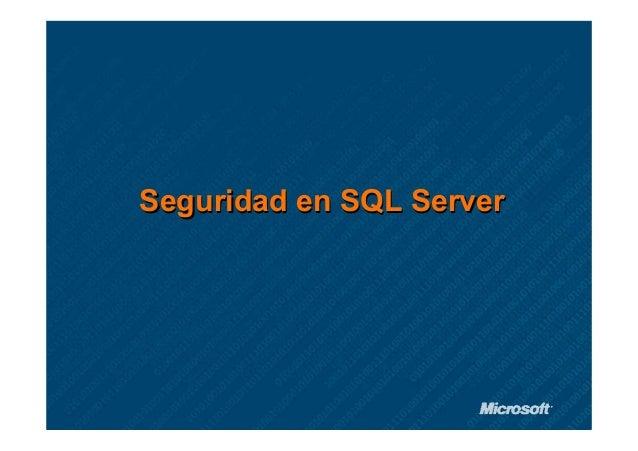 Seguridad en SQL Server