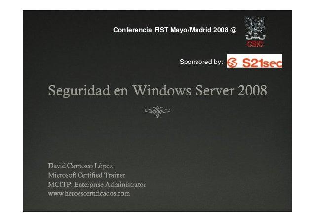 Seguridad Windows Server 2008
