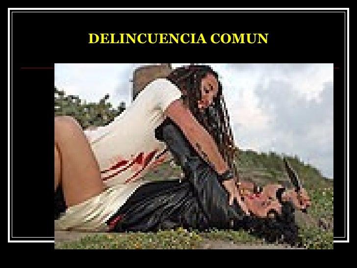 DELINCUENCIA COMUN