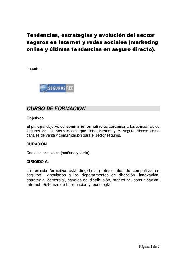 Segurosred   formacion en seguro directo, marketing online y tendencias sector seguros 2013 v 1.0