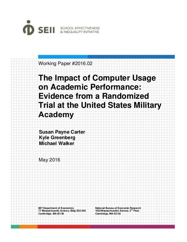 effects of computer education in academic Interest in investigating the impact of home and school computer usage on  student achievement  student academic performance in educational studies.