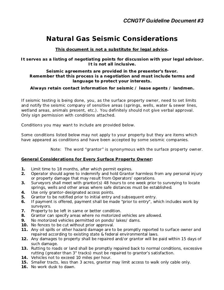 CCNGTF Guideline Document #3             Natural Gas Seismic Considerations                  This document is not a substi...