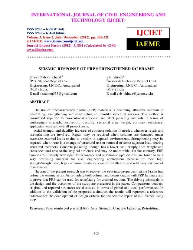 International Journal of Civil Engineering and Technology (IJCIET), ISSN 0976 – 6308 (Print),  INTERNATIONAL JOURNAL OF CI...