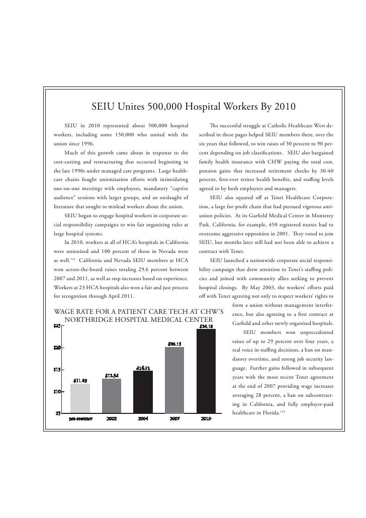 SEIU Unites 500,000 Hospital Workers By 2010      SEIU in 2010 represented about 500,000 hospital                         ...