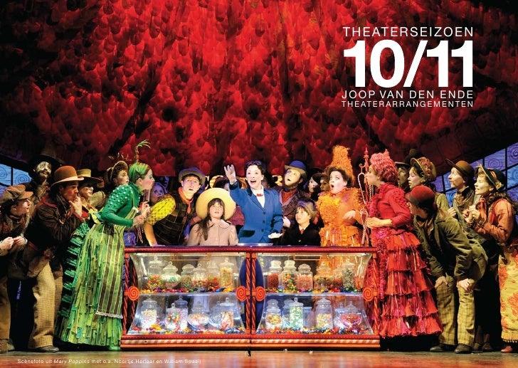 Joop van den Ende Theaterproducties & Theaterarrangementen seizoen 2010/ 2011
