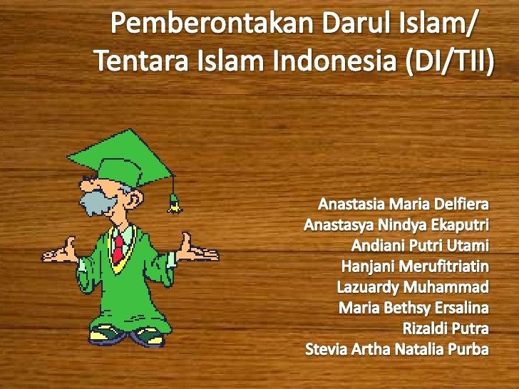 Gerakan ini bertujuan menjadikan Indonesia sebagai    negara teokrasi dengan agama Islam sebagai dasar    negara. Dalam pr...