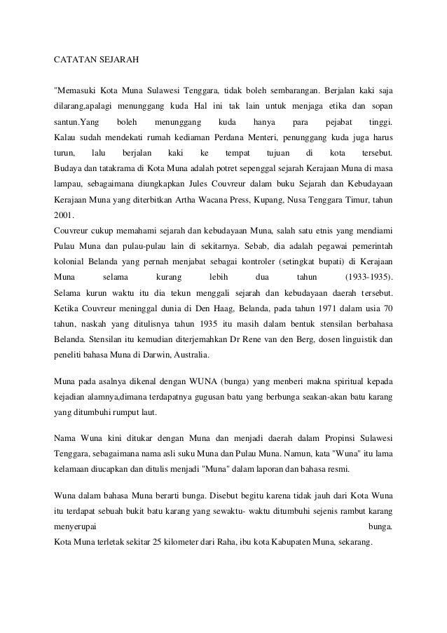 Sejarah kabupaten muna